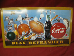 Coca-Cola PLAY REFRESHED Metal Sign 9