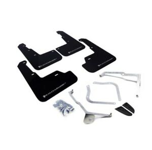 Rally Armor Ur Black Mud Flap W Silver Logo For 15 18 Wrx 15 17 Sti Sedan