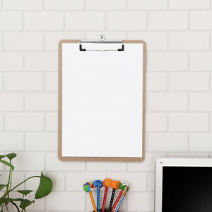 Stobok 6pcs Durable Wooden Smooth Hardboard Clipboard For Meeting Working