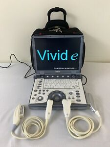 Ge Vivid E Ultrasound Machine With 2 Transducers 3s rs Cardiac 8l rs Linear