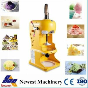 Commercial Snow Cone Maker Electric Automatic Ice Crushing Shaving Machines Tool