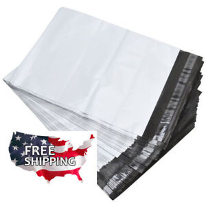 200 12 X 15 Poly Mailers White Envelope Plastic Shipping Bags