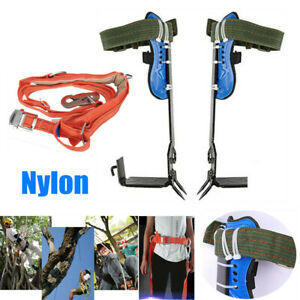 Tree Climbing Spike Spurs Safety Belt Straps Rope For Safety Climbing Trees