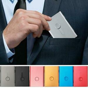 Business Card Holder Name Credit Id Cards Case Metal Ultra Thin Package 7 Colors