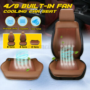 4 8 Fan Cooling Car Seat Cushion Cover Air Ventilated Fan Conditioned Cooler Pad