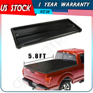 Tonneau Cover For 2015 2018 Chevrolet Silverado 1500 Soft 4 Fold 5 8ft Bed
