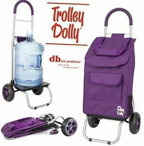 Dbest Products Trolley Dolly Purple Shopping Grocery Foldable Folding Cart New