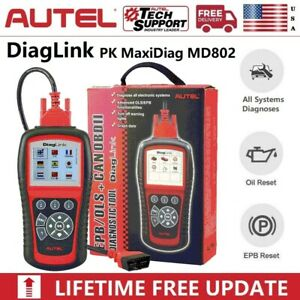 New Autel Diaglink Obd2 Car Diagnostic Scanner All Systems Oil Reset Epb Abs Srs