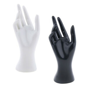 Set Of 2 Female Mannequin Hand Jewelry Ring Watch Display Model Stand Holder