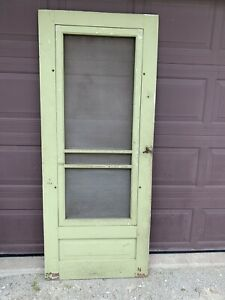 Antique Vintage Wood Screen Storm Door