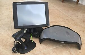 Lot Promac 15 monitor Usb Barcode Laser Scanner W stand Fellows Monitor Riser