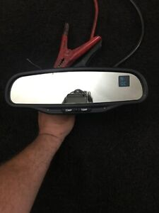 015607 Saturn Chevy Gmc Rear View Mirror Dual Compass Temperature Rearview Oem