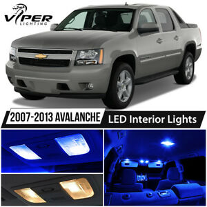 2007 2013 Chevy Avalanche Blue Led Interior Lights Package Kit
