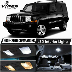 2006 2010 Jeep Commander White Led Lights Interior Package Kit