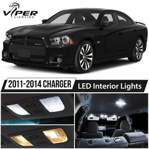 2011 2014 Dodge Charger White Led Interior Lights Package Kit