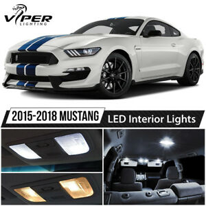 2015 2018 Ford Mustang White Interior Led Lights Package Kit
