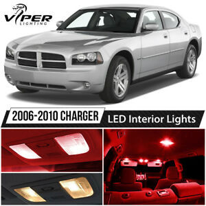 2006 2010 Dodge Charger Red Led Interior Lights Package Kit