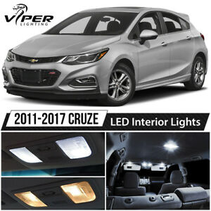 2011 2017 Chevy Cruze White Led Interior Lights Package Kit