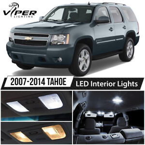 2007 2014 Chevy Tahoe White Led Interior Lights Package Kit