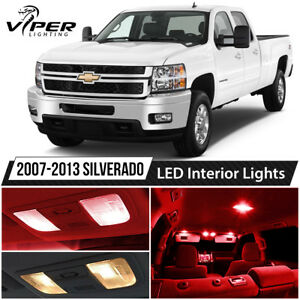 2007 2013 Chevy Silverado Red Led Interior Lights Package Kit