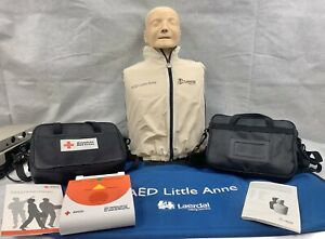 Laerdal Little Anne Manikin Cpr aed W 4 American Redcross Aed Training Device