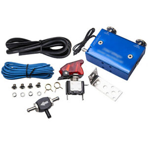 Electronic Dual Stage Turbo Boost Controller Kit Adjustable W Switch Blue