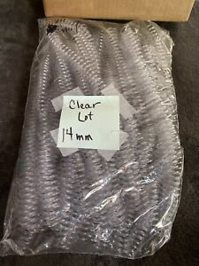 Clear Lot 14 Mm Plastic Spiral Coil Binding Supplies 12 14mil No Box new