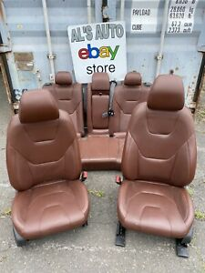 13 16 Ford Fusion Seats Brown Leather Full Set Power Heated Oem