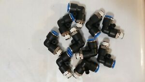 3 8 Tube X 1 4 Npt Male Swivel L Push To Connect Fitting Pneumatic 10 Pieces