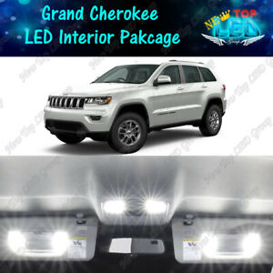White Led Interior Lights Package For 2011 2018 2019 2020 Jeep Grand Cherokee