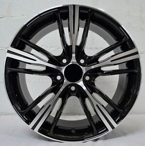 18 Inch Black Machined Rims Fits Et30 Chevy Impala Old Body Style