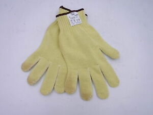 Lot Of 12 Ansell Hyflex Yellow Work Gloves 70 356 Size 9