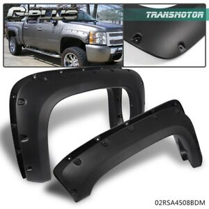 For 07 13 Chevy Silverado 1500 2500hd Pocket Rivet Bolt On Style Fender Flares
