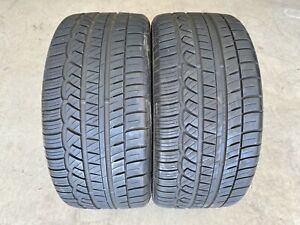 2 Used 255 35r19 Cooper Zeon Rs3 a M s 7 5 32 Tire Pair W Low Miles