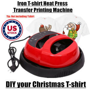 110v 10 x12 Mini Portable Iron on T shirt Heat Press Transfer Printing Machine