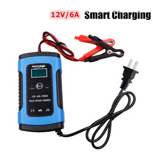 Battery Charger Automotive 12v 6a Smart Battery Maintainer Trickle Charger Tool
