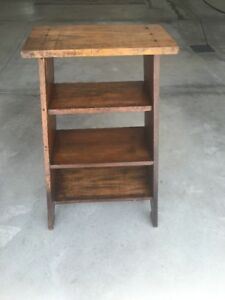 Antique Solid Wood Night Stand Book Shelf Table Furniture Farmhouse No Shipping