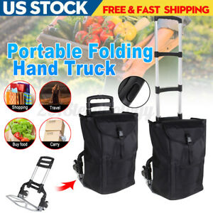 300lbs Portable Aluminum Folding Handle Truck Heavy duty Luggage Trolley Tools