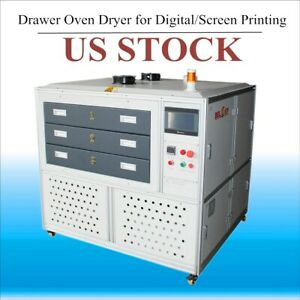 Us Stock Ac220v 5500w 3 Drawer Oven Dryer For Direct To Garment Screen Printing