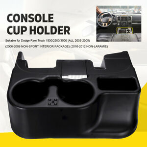 For Dodge Ram Add On 1500 2500 3500 2003 2012 Black Center Console Cup Holder