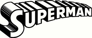Superman Decal Window Or Bumper Sticker