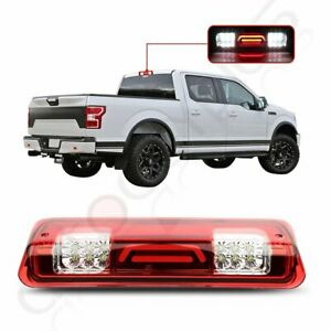 For 2004 2008 Ford F 150 Red Lens 3d Led 3rd Brake Tail Light Cargo Lamp Chrome