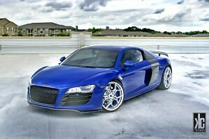 20 Flow Forged Bd f25 Brushed Silver Wheels Rims For Audi R8 20x9 20x11