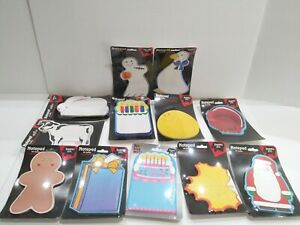 New Old Store Stock Creative Shapes Inc 50 Sheets Assorted Lot note Pads