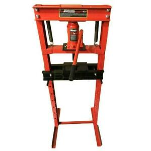 Hydraulic Shop Press Floor Shop Equipment 12 Ton 12 T H Frame Red High Quality