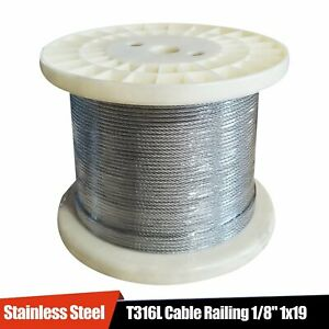 Stainless Steel T316l Cable Railing 1 8 1x19 50 100 200 250 500 1000 Ft
