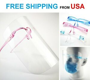 Adult Unisex Anti fog Clear Transparent Safety Glasses Face Shield Protection