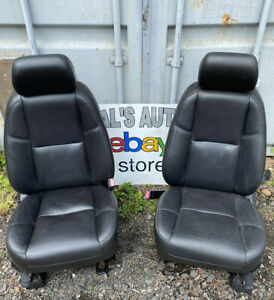 07 14 Cadillac Escalade Tahoe Yukon Front Seats Black Leather Heated Cooled Oem