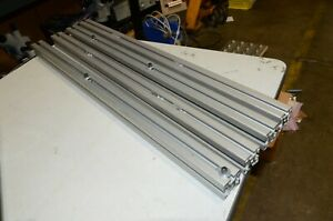 30 Inch T Slot Silver Extrusion Aluminum Lot Of 4 Pieces Sold As A Lot