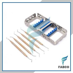 5pcs Cord Packer Gingival Retraction Dental Instruments With Dental Cassette